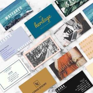100PCS BUSINESS CARD | TWO SIDED (COLOUR) + FREE SHIPPING SM SS + FREE GIFT