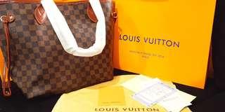 LV Neverfull Damier with Freebies