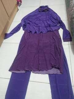 Baju renang muslimah syar'i ukuran L