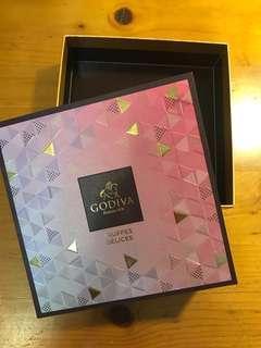 Godiva正方型硬質紙盒