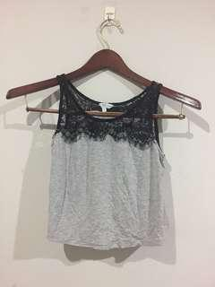 Lace Cropped Tank Top