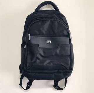 HP black multi pocket laptop backpack