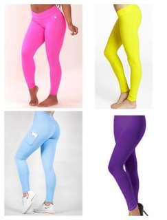 Bright coloured leggings