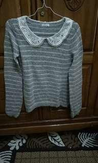 Colar knit top