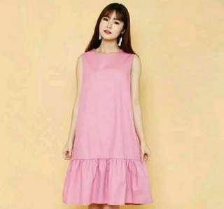 Ruffle Loose Pocket Dress