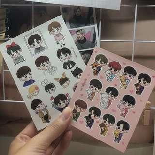 Wanna One & Minhyun Fanart Stickers