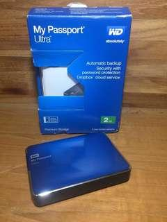 WD Western Digital My Passport Ultra 2TB Blue