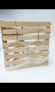 Anting juntai hoops silver