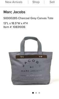 Marc Jacobs Charcoal Grey Canvas Tote