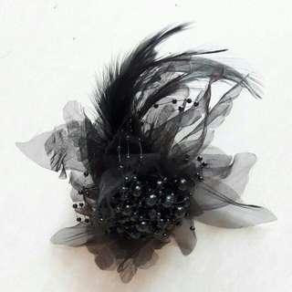 Black Fascinator Hair Piece #oct10