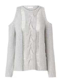 Sass & Bide Cut Off Shoulder Knit, Size S (10)
