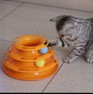 """Cat """"catch the ball"""" spin toy"""