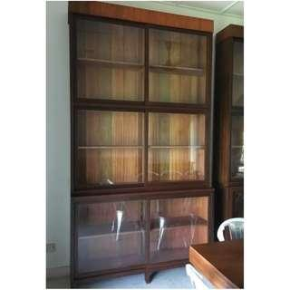Vintage 9.5ft Tall Showcase Cabinet Solid Wood (Restored)