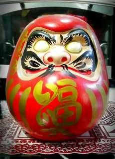 Ceramic Daruma doll japan tradition lucky charm coin bank