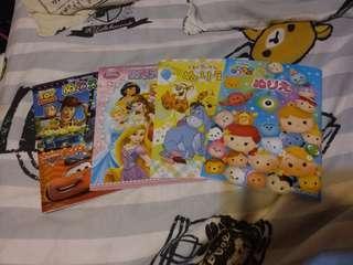 Disney 公主 Toystory  Tsum Tsum  Winnie the Pooh 填色薄