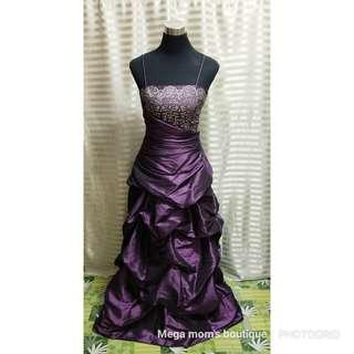 For rent/sale: violet gown
