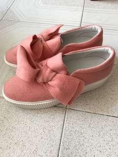 Ete! 粉紅色蝴蝶結鞋