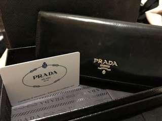 Prada Wallet /  Prada 長銀包 黑色