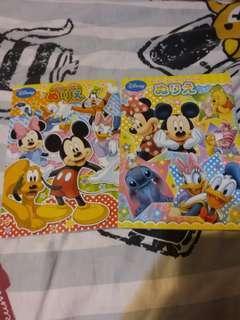 Disney 公主 Micky Minnie 唐老鴨 填色薄 唔散買