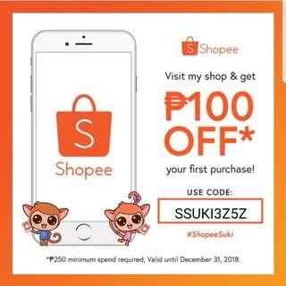 P100 off on Shopee