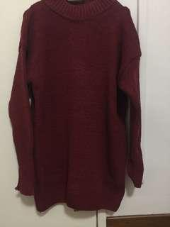 Wine Red Sweater