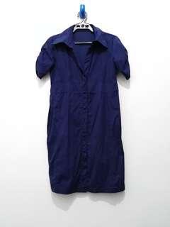 Mid Polo Navy Blue Dress