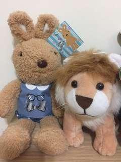 🚚 可愛兔子 和獅子
