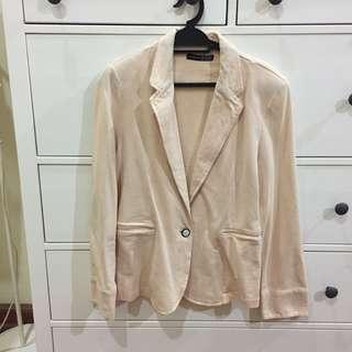 ATMOSPHERE Cream Blazer #H&M50
