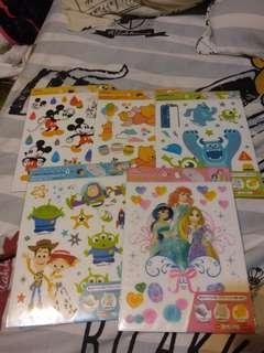 Disney Toystory Micky Winnie the Pooh  怪獸大學 公主 雨傘貼紙 雨傘貼