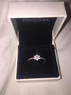 Pandora Purple Flower Ring