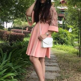 Doublewoot Diniary Peach Dress