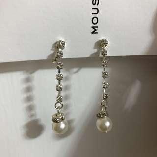 婚後物資 閃石珍珠夾耳環 包郵