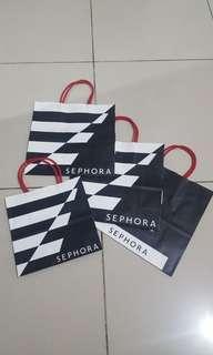 Sephora paper bag (small, medium