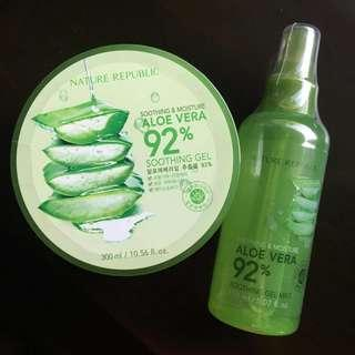 Nature Republic Aloe Vera Soothing Gel and Soothing Mist