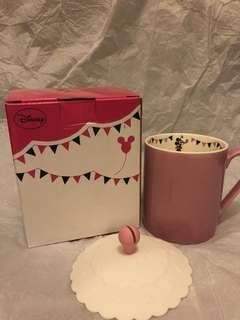 Disney 米妮粉紅色杯連蓋 迪士尼