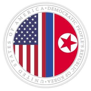 (2nd Issue) New USA - DPRK Relations 1 oz 999 Fine Silver Proof Medallion