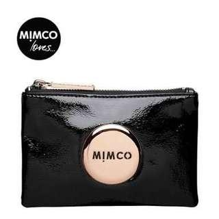 MIMCO POUCH BLACK ROSE GOLD