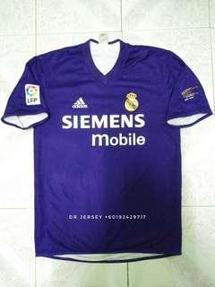 Real Madrid centenary jersey 2002 reversible S
