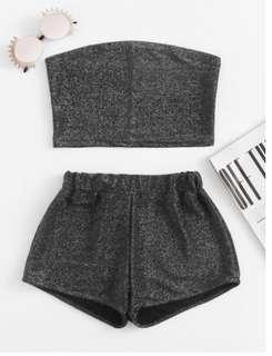 Sparkle Bandeau Crop & Shorts Set