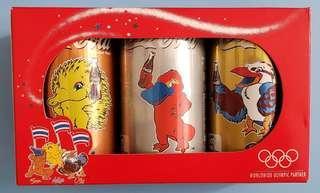 可口可樂……泰國2000年奧運紀念罐(禮盒裝,一套三款)