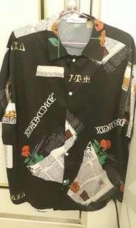 韓國代購玫瑰花襯衫