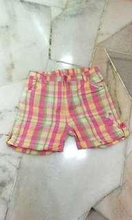 Girl pink checked Shorts 6T