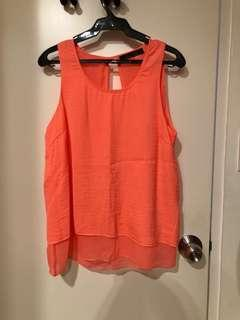 Cache Cache Orange Sleeveless Top (Size 3 / L)