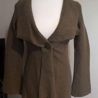 Alpaca - boiled wool thick sturdy jacket with beautiful drape