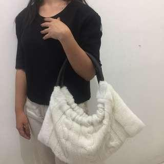 Knit ethnic bag