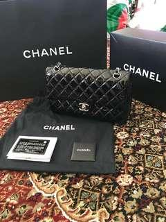 100% authentic Chanel Medium Classic flap Patent Leather