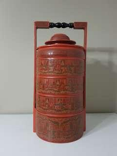 Burmese Lacquer Tiffin Carrier