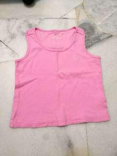 Pink Crop Top Girl 6T