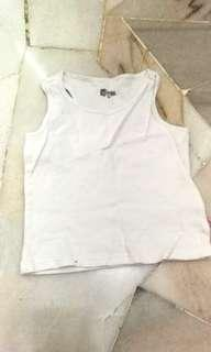 White Crop Top girl 6Y