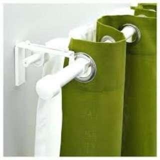 IKEA RACKA Curtain Rods & BETYDLIG brackets and rod holders (White)